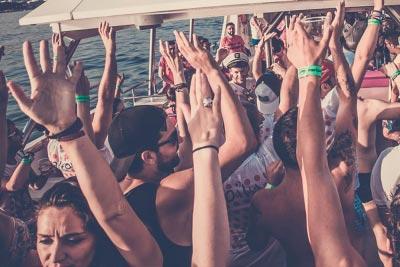 Inauguración boat party Málaga
