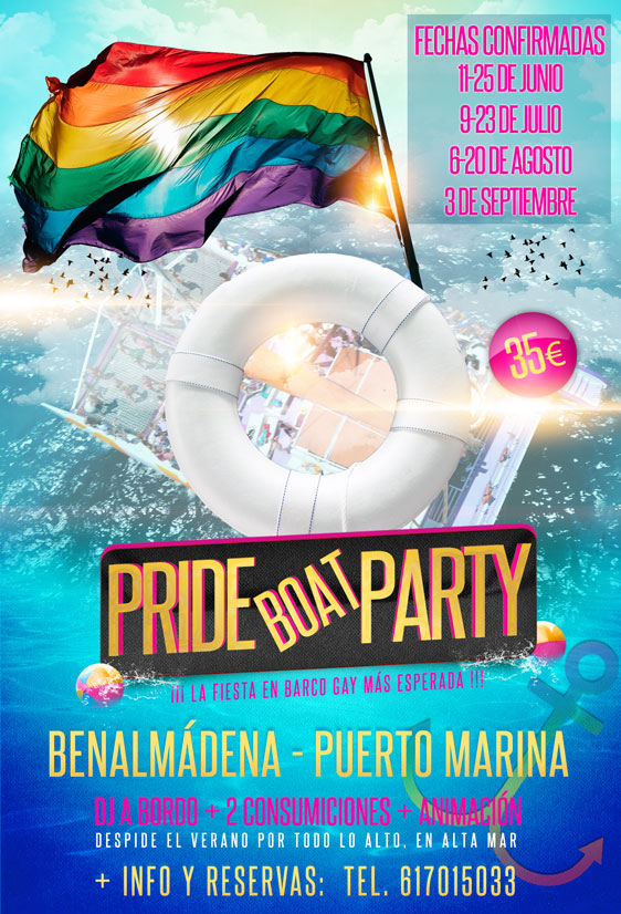 flyer fiesta gay Benalmádena