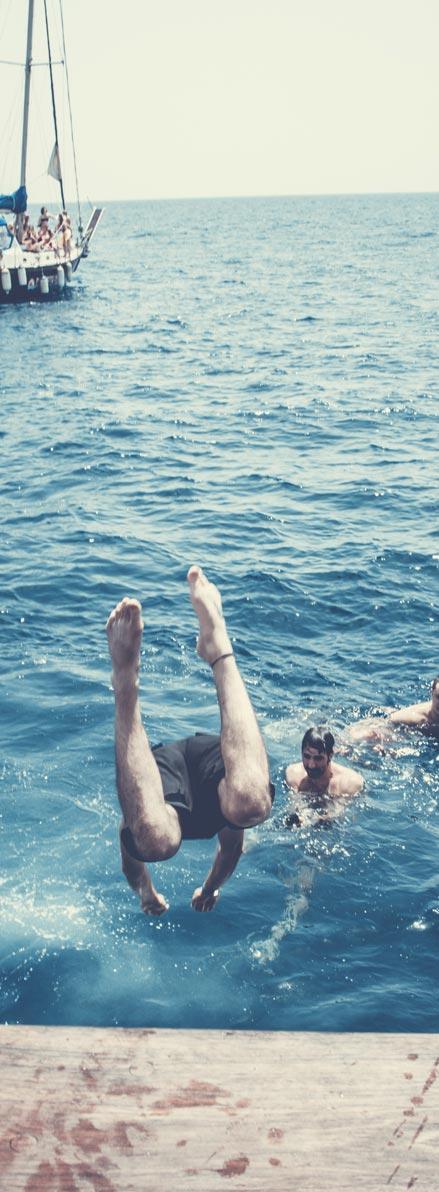 baño en alta mar